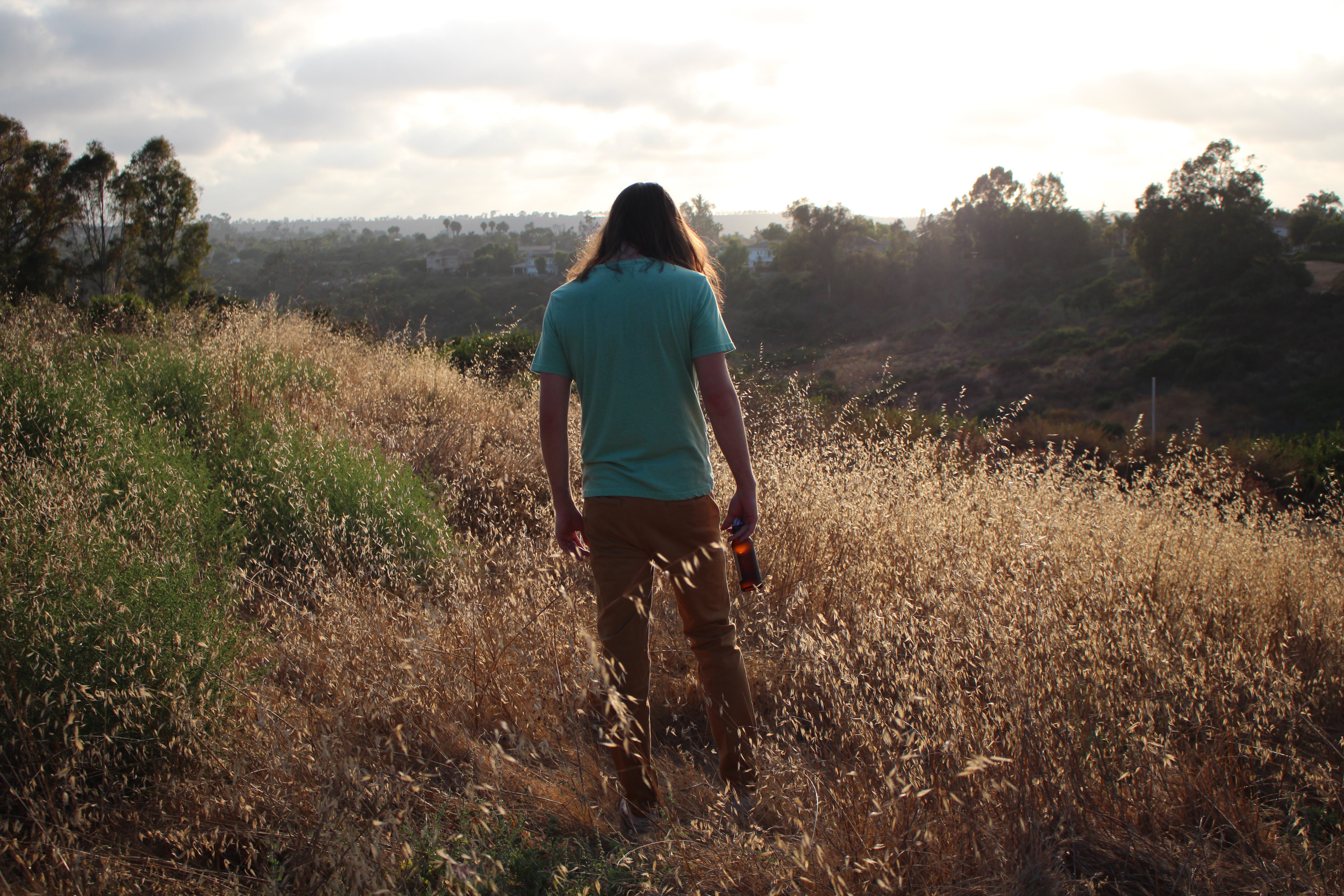 The Artist Scoobert Doobert in a field